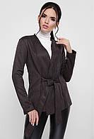 Молодежный женский замшевый пиджак