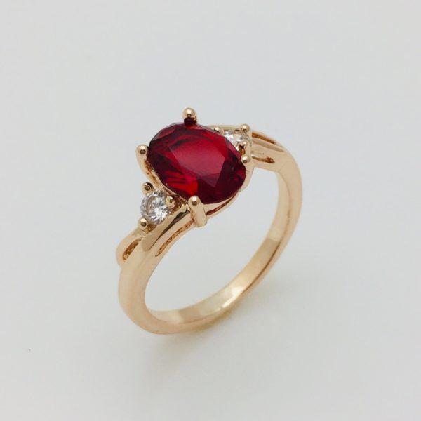 Кольцо Готли с красным камнем, размер 17. 18, 19, 20 ювелирная бижутерия
