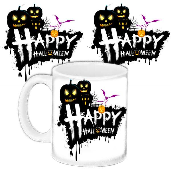 Кружка с принтоми Happy  Halloween