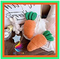 Подушки игрушки морковка с нанесением логотипа под заказ (от 50 шт.)