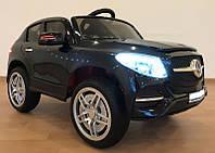 Детский электромобиль Джип Mersedec, кожа, EVA колёса, дитячий електромобіль, чёрный
