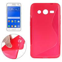 Чехол-бампер для Samsung Galaxy Core 2 G355, красный.