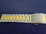 Браслет на часы метал 20 Gold-Silver, фото 2