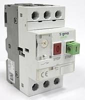 Автомат пуска защиты электродвигателя 3 фазы, уставка 0.16-0.25А, 25А, 100кА теплушка, фото 1