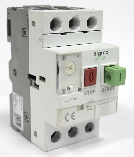 Автомат пуска защиты электродвигателя 3 фазы, уставка 0.4-0.63А, 25А, 100кА теплушка