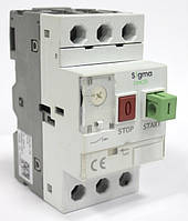 Автомат защиты электродвигателя 3 фазы, уставка 0.1-0.16А, 25А, 100кА  теплушка цена