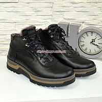 Ботинки мужские на шнуровке, натуральная кожа флотар