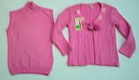 Оригінальна в'язана двійка для дівчинки 3-4 роки, фото 1