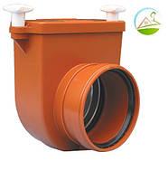 HL710.0 Затвор DN110 с заслонкой из нержавеющей стали и муфтой для труб из синтетического материала