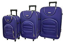 Набор дорожных чемоданов на колесах Siker Lux набор 3 штуки Темно-Фиолетовый