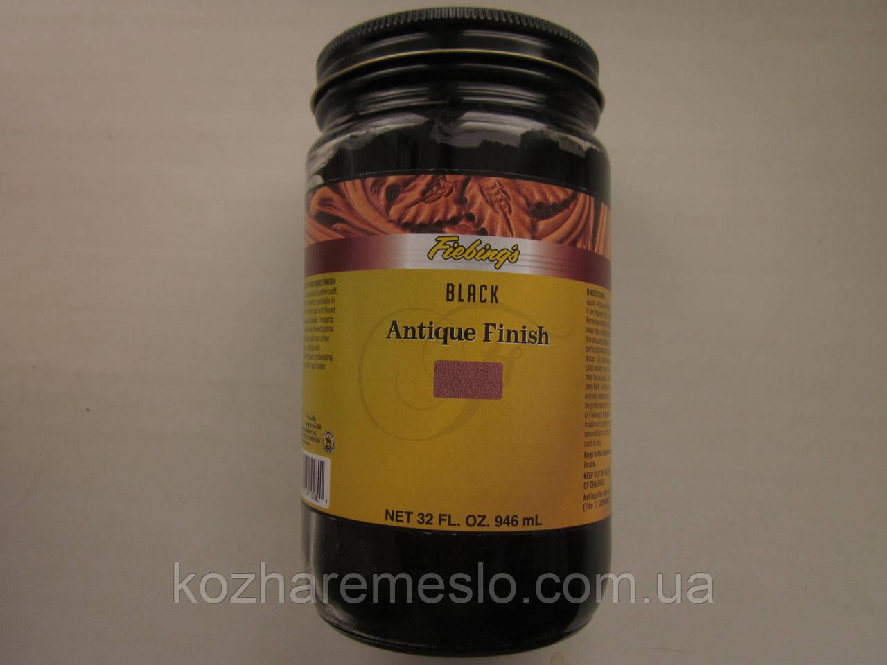 Антик - финиш FIEBING'S для кожи 100 гр чёрный (не фирменная упаковка)