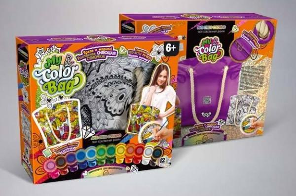 """Детский набор для творчества Комплект креативного творчества """"My Color Bag"""" сумка-раскраска 6065DT"""