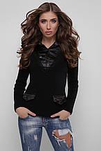 Джемпер-рубашка Диана 105 черный-черный (волна) (44-48)
