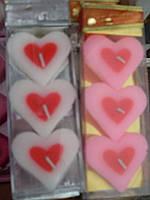 Свечи сердце (3шт), фото 1