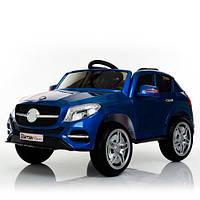 Детский электромобиль Джип Mersedec, автопокраска, кожа, EVA колёса, дитячий електромобіль, синий