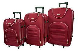 Набор дорожных чемоданов на колесах Siker Lux набор 3 штуки Бордовый