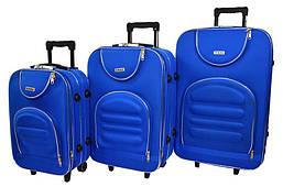 Набор дорожных чемоданов на колесах Siker Lux набор 3 штуки Синий