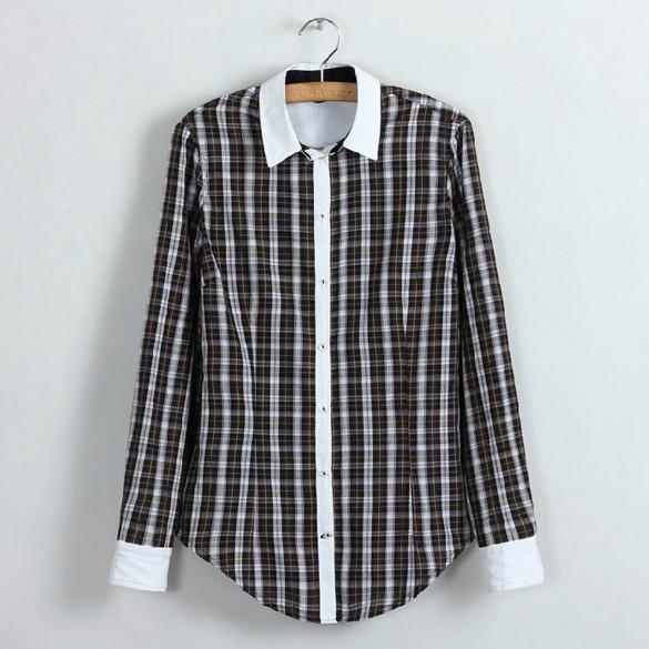 dce554aad Женская рубашка в клетку копия Zara, - CosmoCity - космосити -  интернет-магазин одежды