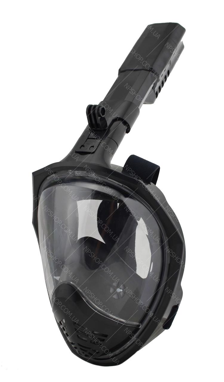 Полнолицевая панорамная маска для плавания SmartTech (L/XL) с креплением для камеры
