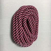 Скакалка гімнастична El Leon De Oro Deportiva 3м (15 кольорів в асортименті) Рожево-чорний