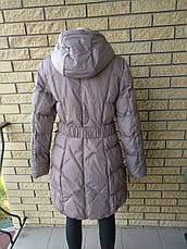 Пуховик, курта женская зимняя на натуральном пуху SNOW, фото 3