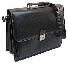 Портфель деловой из искусственной кожи черный, 809-1 black