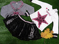 Костюм нарядный на девочку кофта + накидка + юбка 2.3.4. лет