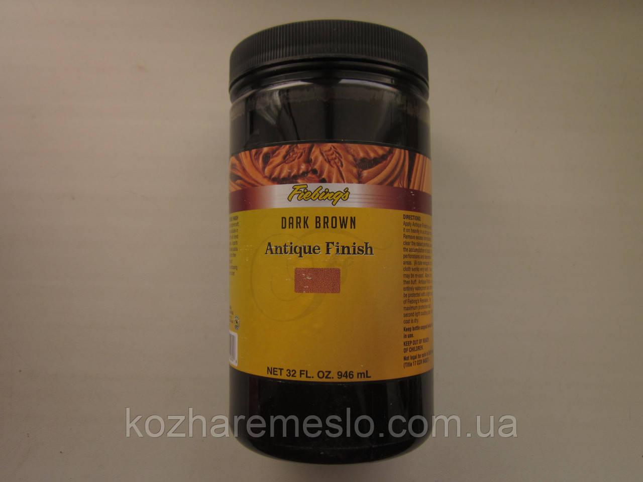 Антик - финиш FIEBING'S для кожи 100 гр тёмно - коричневый (не фирменная упаковка)