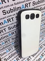 Чехол для 2D сублимации пластиковый на Samsung S3 черный (закругленная пластина), фото 2