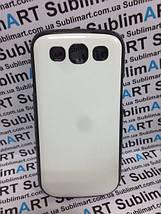 Чехол для 2D сублимации пластиковый на Samsung S3 черный (закругленная пластина), фото 3