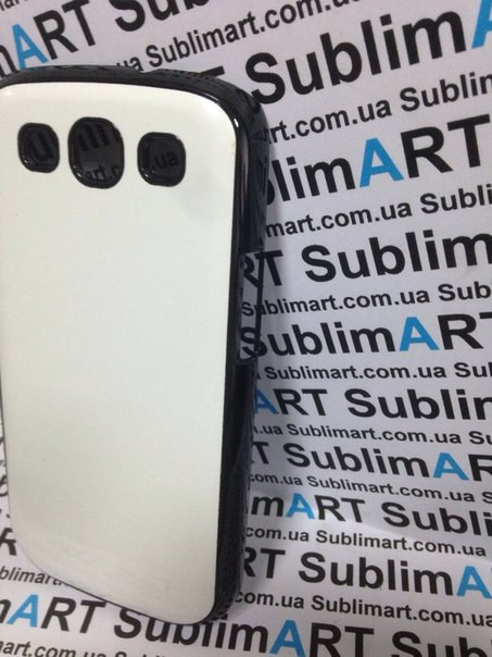 Чехол для 2D сублимации пластиковый на Samsung S3 черный (закругленная пластина)