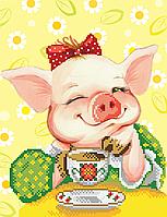 Схема для вишивки бісером Кокетлива свинка