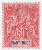 Martinique français 1892 Мартиника