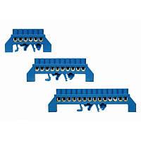 "Нулевая ""N"" шина ШНИ 6 x 9 в изоляторе ""мостик"" на DIN-рейку 8 отв. до 63А Electro, фото 1"