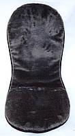 Накидка з овечої шерсті на автомобільне сидіння, фото 1
