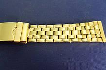 Браслет для годинника метал 20 Gold