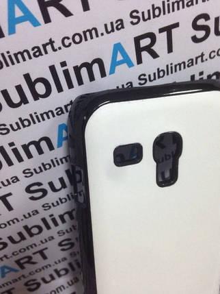 Чехол для 2D сублимации пластиковый на Samsung S3 mini черный (закругленная пластина), фото 2