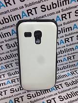 Чехол для 2D сублимации пластиковый на Samsung S3 mini черный (закругленная пластина), фото 3