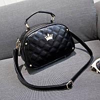 Женская сумка черная стеганая опт, фото 1