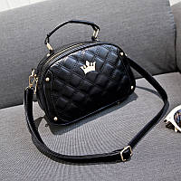 Жіноча сумка чорна стьобана опт, фото 1