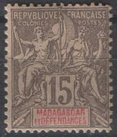 Мадагаскар 1896 г. 15с