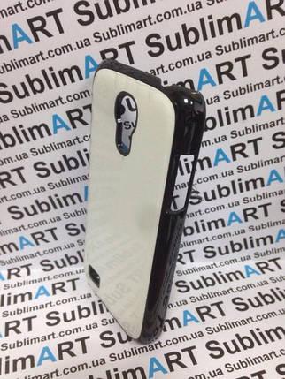 Чехол для 2D сублимации пластиковый на Samsung S4 mini черный (закругленная пластина), фото 2