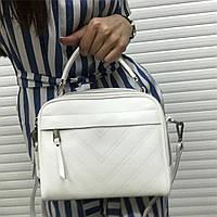 Сумка ,клатч  натуральная кожа  в белом цвете  , кожаная сумка