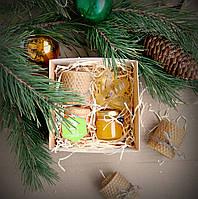 Медовый набор со свечей и мылом ручной работы