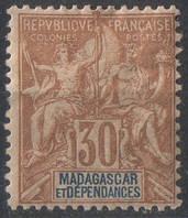 Мадагаскар 1896 г. 30с
