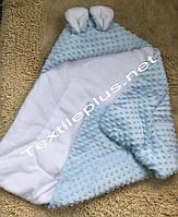 Одеяло / плед для новорожденных с ушками