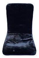 Накидка на автомобільне сидіння з овечої шерсті, чорний колір, фото 1