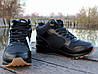 Ботинки зимние мужские черные Nike Air Max нат. кожа реплика, фото 2
