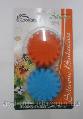 Набор силиконовых форм для выпечки кексов SC 27-6 арт. 822-6-11