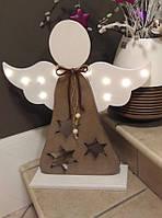 """Новогодний декор, объемная фигура """"Ангел"""" с подсветкой для дома, фотозон, офисных помещений, витрин"""